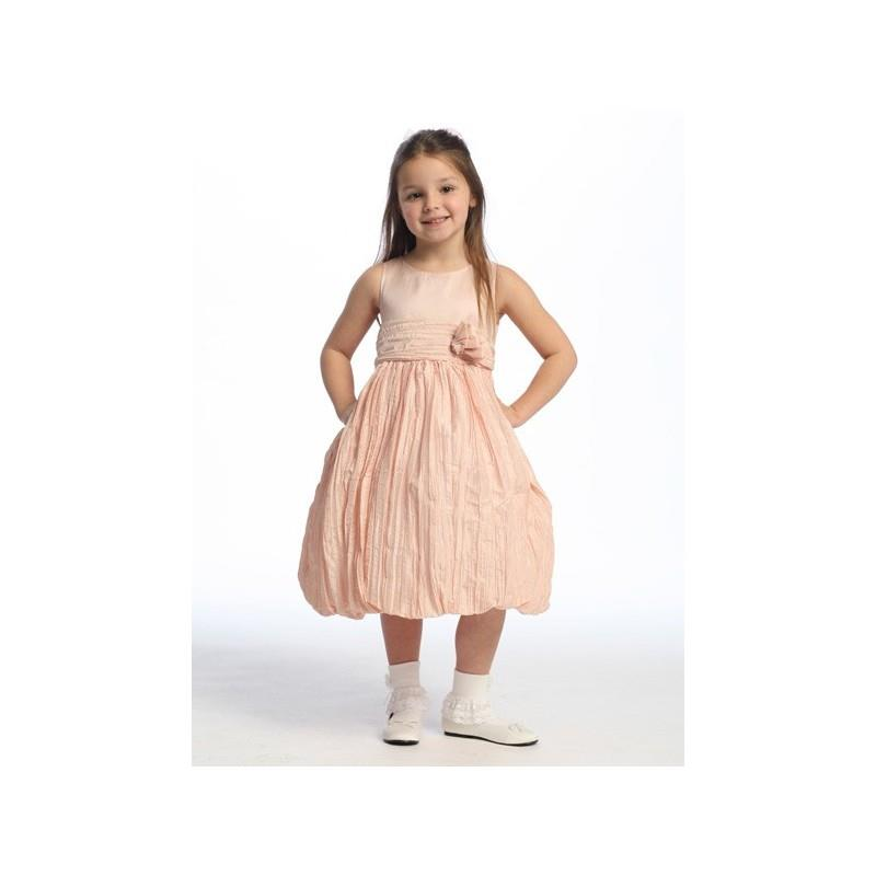 My Stuff, Pink Flower Girl Dress - Taffeta Crinkled Skirt Style: D2470 - Charming Wedding Party Dres