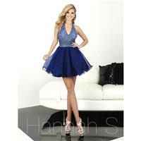Hannah S 27074 Midnight Blue,Pomegranate Dress - The Unique Prom Store