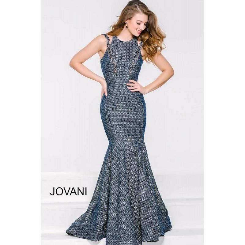 My Stuff, Jovani 41375 Dress - Jewel Long Drop Waist, Trumpet Skirt Prom Jovani Dress - 2017 New Wed