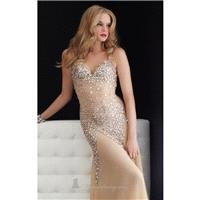 Nude Halter strap evening gown by Jasz Couture - Color Your Classy Wardrobe