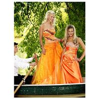 Exclusively Designed for The Cool Book 4191026 Orange/Red,Turquoise/Lime Dress - The Unique Prom Sto