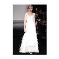 Simone Carvalli - Fall 2012 - Bailee Sleeveless Lace A-Line Wedding Dress with Beaded Details and Fe