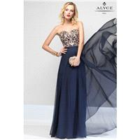 Alyce Paris 6665 Dress - Long Prom Strapless, Sweetheart A Line Alyce Paris Dress - 2017 New Wedding