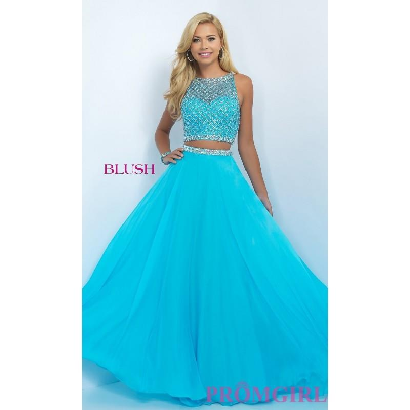 My Stuff, Long Two Piece Illusion Sweetheart Prom Dress by Blush - Discount Evening Dresses |Shop De