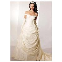 Beautiful Elegant Exquisite Taffeta Wedding Dress In Great Handwork - overpinks.com