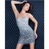 Classical Top Mini Column Beaded Gold Sweetheart Short Made Cocktail/party/club Dress Jovani 171480