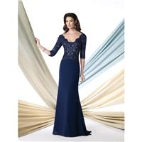 Navy Blue/Nude Sugarplum Montage by Mon Cheri 213978 Montage by Mon Cheri - Top Design Dress Online