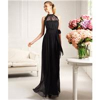Elegant A-line Halter Lace Floor-length Chiffon  Cocktail Dresses - Dressesular.com
