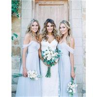 Custom Draped Off-Shoulder Chiffon Bridesmaid Dress Long - Multiple Colors - Boho Chic - Hand-made B