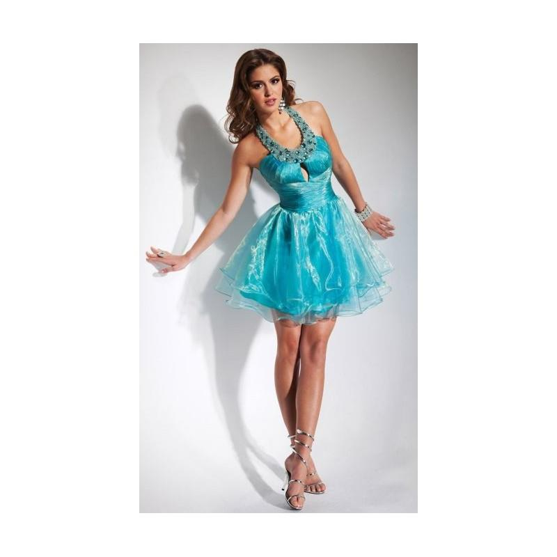 My Stuff, Flirt Short Organza Homecoming Dress PF1002 - Brand Prom Dresses|Beaded Evening Dresses|Ch