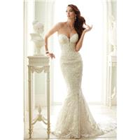 Style Y21671 by Sophia Tolli for Mon Cheri - Sheath Chapel Length Sleeveless LaceTulle Floor length