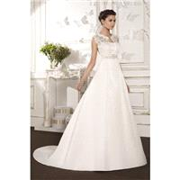 Style B8005 by Villais Collection from Karelina Sposa - Strapless Chapel Length Sleeveless Lace Floo