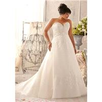 Julietta by Mori Lee 3155 Strapless Beaded A-Line Plus Size Wedding Dres - Crazy Sale Bridal Dresses