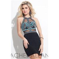 Beaded Jersey Dress by Rachel Allan Short - Color Your Classy Wardrobe