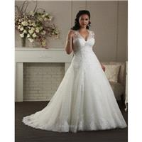 Unforgettable Plus Size by Bonny Bridal 1411 Bridal Gown (2014) (BN14_1411BG) - Crazy Sale Formal Dr