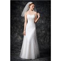 Style GA2269 by Kenneth Winston%3A Gallery - Mermaid Chapel Length Sleeveless LaceTulle Floor length