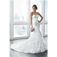Eternity Bride Style 15627 by Christina Wu - Ivory  White Lace Belt  Zip-Up Fastening Floor Wedding
