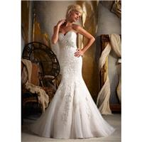 Mori Lee 1903 Fit and Flare Sweetheart Neckline Embroidered - Mermaid Strapless, Sweetheart Long Wed