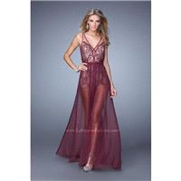 La Femme 21333 Black,Deep Indigo,Garnet Dress - The Unique Prom Store