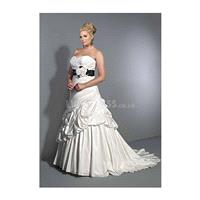 Gorgeous A line Natural Waist Sweetheart Taffeta Chapel Train Big Wedding Dress - Compelling Wedding