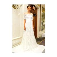 Marchesa - Spring 2017 - Corded Lace A-Line Gown with Elbow Length Sleeves - Stunning Cheap Wedding