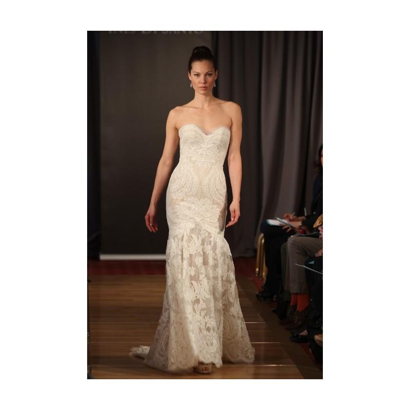 My Stuff, Ines Di Santo - Spring 2013 - Strapless Lace Sheath Wedding Dress with Sweetheart Neckline