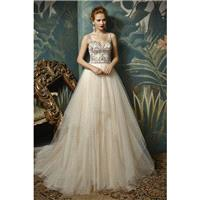 Enzoani Jovita by Blue by Enzoani - Taupe  Ivory Tulle Illusion back  Low Back  V-Back Floor Wedding