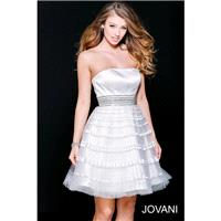 Jovani 33668 Dress - Jovani A Line Homecoming Strapless Short Dress - 2017 New Wedding Dresses