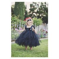 Black Tulle Dress, Black Flower Girl Dress, Flower Girl Dress, Tulle Flower Girl Dress, Black Dress