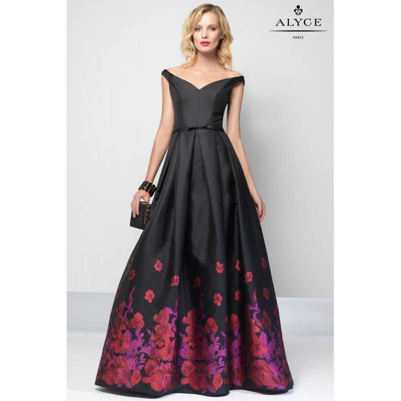 My Stuff, Black/Red Alyce Prom 6671 Alyce Paris Prom - Rich Your Wedding Day