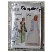 Renaissance-Style Wedding or Evening Gown - Sizes 12, 14 & 16 - Simplicity 8623 - Women's Bridal Pat