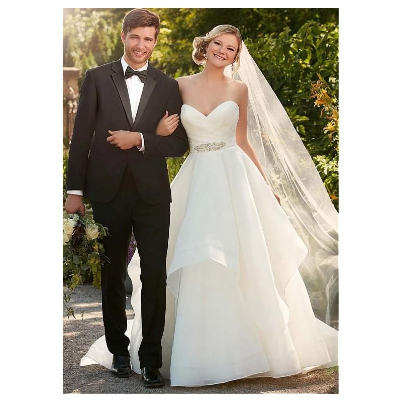 My Stuff, Alluring Organza Satin Sweetheart Neckline A-line Wedding Dresses with Beadings & Rhinesto