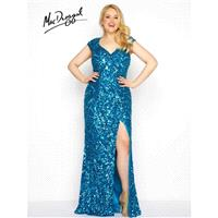 Fabulouss by Mac Duggal 4529F Crystal Peacock,Black Dress - The Unique Prom Store