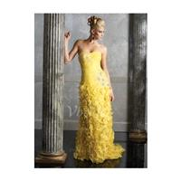 Sheath/Column Sweetheart Court Train Organza Mother of the Bride Dress With Ruffle Lace Beading Appl