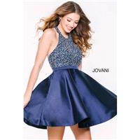 Jovani 42761 Short Dress - Halter A Line Jovani Short and Cocktail Short Dress - 2017 New Wedding Dr