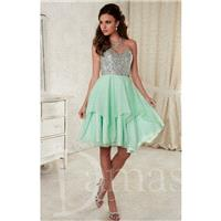 Silver/Claret Damas 52389 - Short Chiffon Corset Back Dress - Customize Your Prom Dress