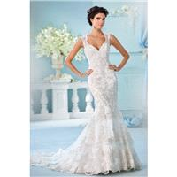Style 216246 by David Tutera for Mon Cheri - Chapel Length LaceSatinTulle Floor length Fit-n-flare V