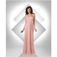 Bari Jay 331 One Shoulder Draped Back Cascading Train - Bridesmaids A Line Bari Jay Bella Chiffon On