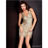 Classical Classic Satin V-neck Short Tulle Empire 2013 Sequine Cocktail/party/club Dress Jovani 1716