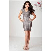 Black Hannah S 27106 - Cap Sleeves Short Dress - Customize Your Prom Dress