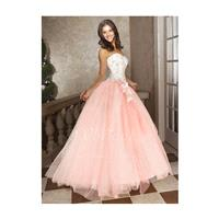 Ball-Gown Strapless Sweetheart Floor-Length Tulle Quinceanera Dress With Beading Flower - Beautiful