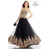 Alyce Paris 6596 Prom Dress - Strapless, Sweetheart Fit and Flare Prom Alyce Paris Long Dress - 2017