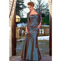 Chic Floor Length Strapless Taffeta Green Mother of the Bride Gown - Compelling Wedding Dresses|Char
