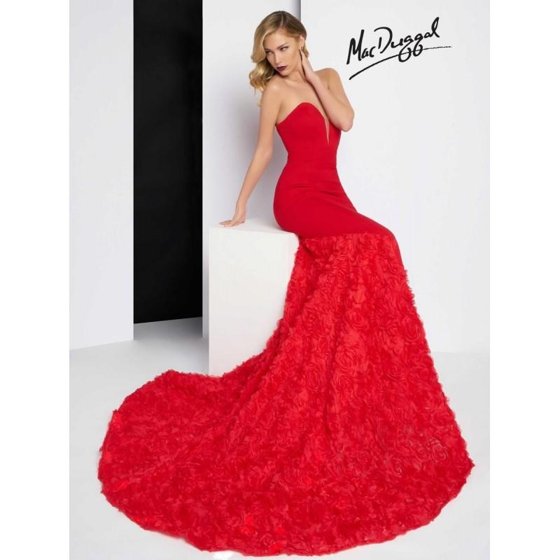 My Stuff, Black Black White Red by Mac Duggal 65219R - Brand Wedding Store Online