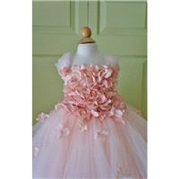 Flower girl dress Blush Pink Dress, Pink Blush Pink tutu dress, flower top, hydrangea top, toddler t