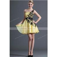 By Carolyn Carr A-line One Shoulder Sleeveless Short/Mini Chiffon New Arrival Homecoming Dresses  In