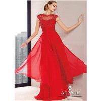 Alyce 29697 Open Chiffon Back Dress Website Special - 2017 Spring Trends Dresses|Beaded Evening Dres