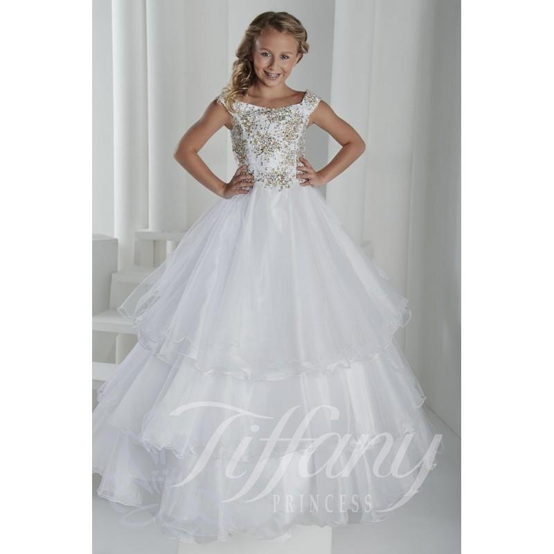 wedding, Tiffany Princess 13406 Girls Ball Gown - Brand Prom Dresses|Beaded Evening Dresses|Charming