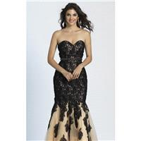 Black Strapless Beaded Mermaid Gown by Dave and Johnny - Color Your Classy Wardrobe