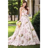 Style 117283 by David Tutera for Mon Cheri - Blush  Pink Organza  Satin Floral Print Floor Wedding D